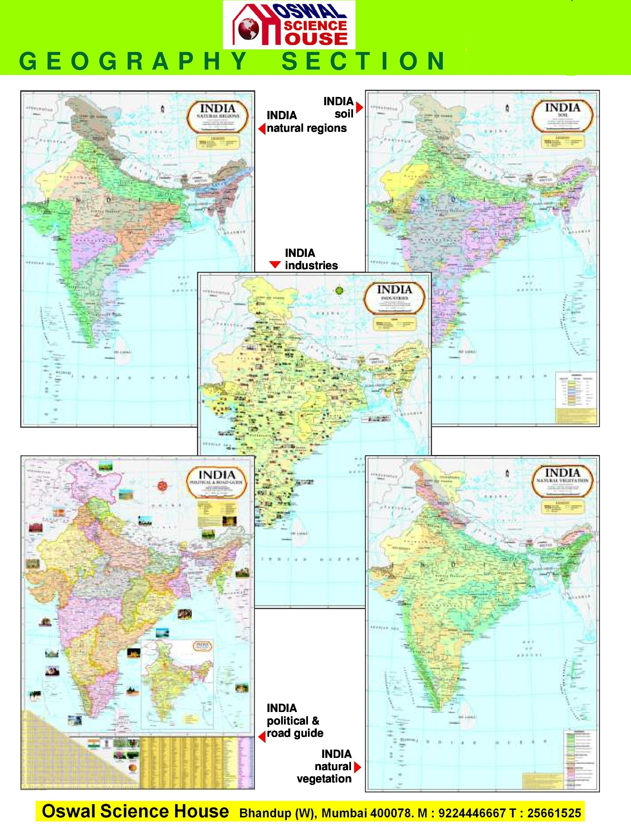 Oswal science house laminated charts comparative wall atlas maps gumiabroncs Image collections